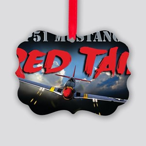 Red Tail 8x8 Picture Ornament