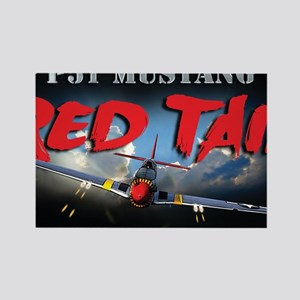 Red Tail 8x8 Rectangle Magnet