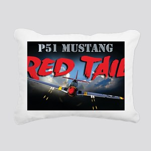 Red Tail 8x8 Rectangular Canvas Pillow