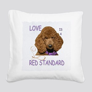 Love is a Red Standard Square Canvas Pillow