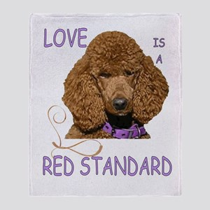 Love is a Red Standard Throw Blanket