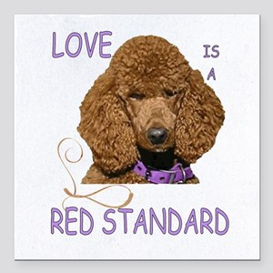 "Love is a Red Standard Square Car Magnet 3"" x 3"""