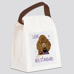 Love is a Red Standard Canvas Lunch Bag