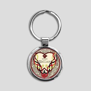 Wallace Heart Round Keychain