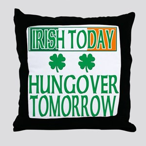 irishhungover2 Throw Pillow