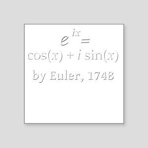 """eulersFormula-5-5-whiteLett Square Sticker 3"""" x 3"""""""