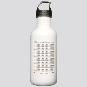 Shuttle_135_Missions_R Stainless Water Bottle 1.0L