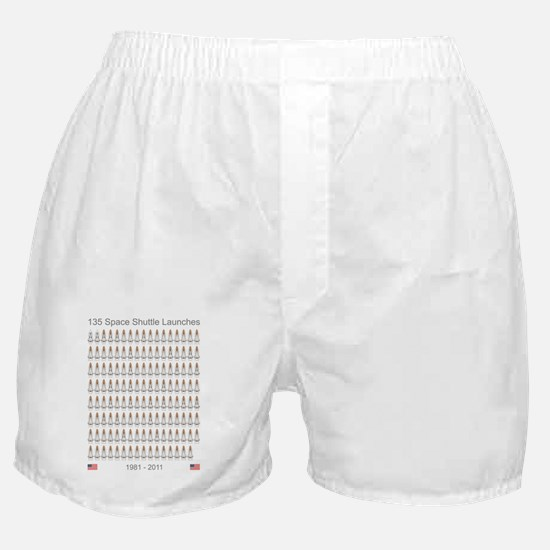 Shuttle_135_Missions_RK2012_5400x7200 Boxer Shorts