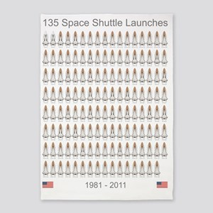 Shuttle_135_Missions_RK2012_5400x72 5'x7'Area Rug