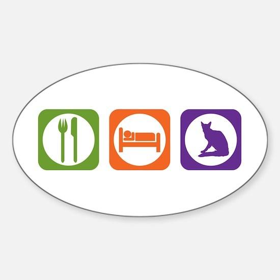 Eat Sleep Balinese Oval Decal