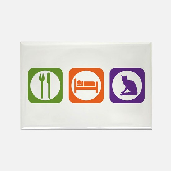 Eat Sleep Balinese Rectangle Magnet