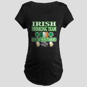 irishdrinknig2 Maternity Dark T-Shirt