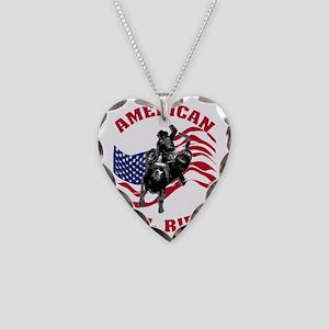 american_bullrider_dk Necklace Heart Charm