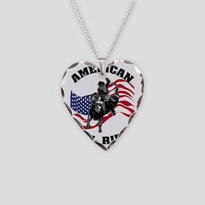 american_bullrider Necklace Heart Charm