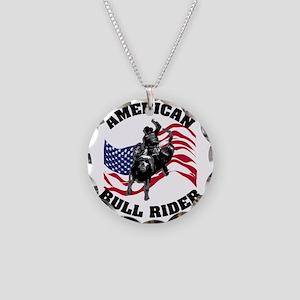 american_bullrider Necklace Circle Charm