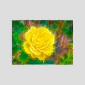 Yellow Rose 5'x7'Area Rug