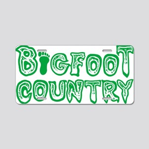 bigfoot country Aluminum License Plate