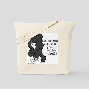 bad ass bear Tote Bag