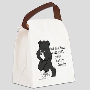 bad ass bear Canvas Lunch Bag