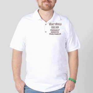 WWCHEDOBLKRED10X10 Golf Shirt