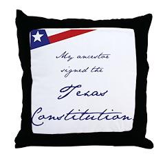 Texas Constitution Throw Pillow