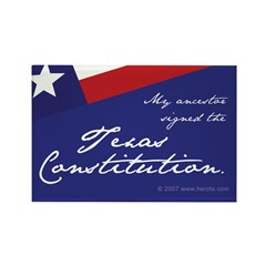 Texas Constitution Rectangle Magnet