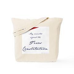Texas Constitution Tote Bag