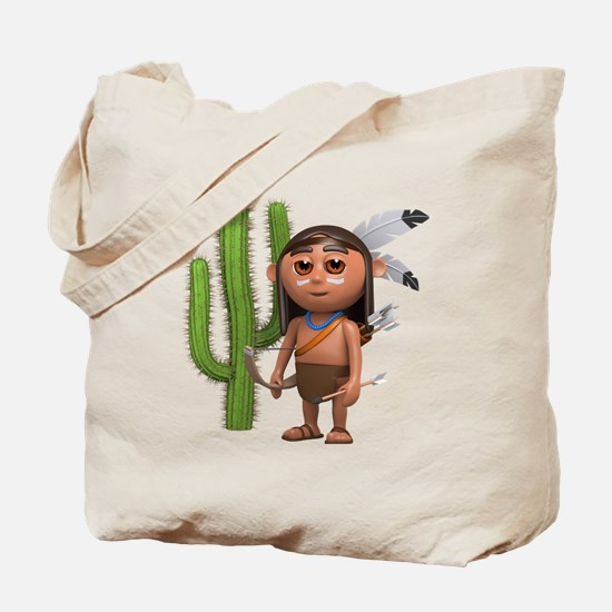 3d-indian-cactus Tote Bag