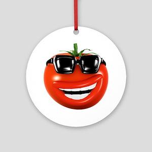 3d-tomato-shades Round Ornament