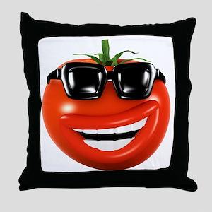3d-tomato-shades Throw Pillow