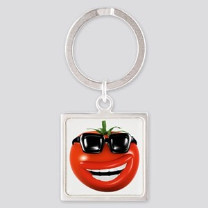 3d-tomato-shades Square Keychain