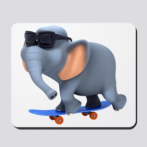 3d-elephant-skateboard Mousepad