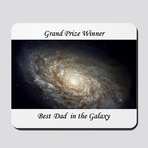 Best Dad in Galaxy Mousepad astronomy gift