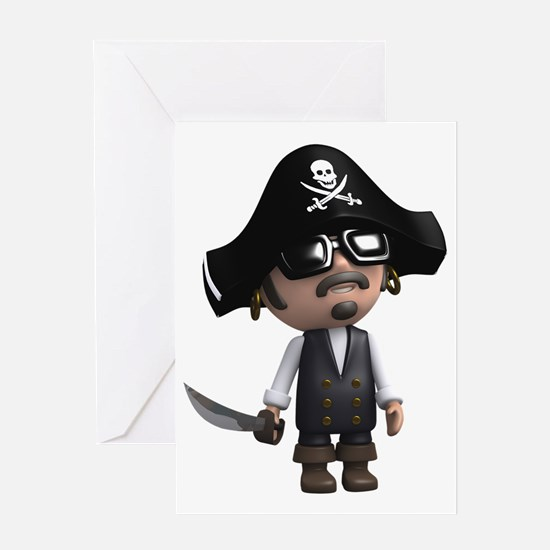 3d-Pirate-sunglasses Greeting Card