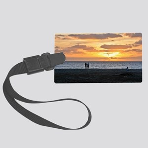 CAPE VERDE, BEACH SUNSET 1 Large Luggage Tag