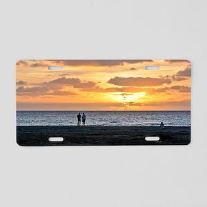 CAPE VERDE, BEACH SUNSET 1 Aluminum License Plate