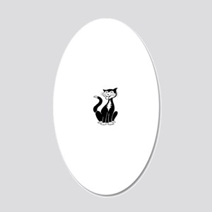 kitty 20x12 Oval Wall Decal