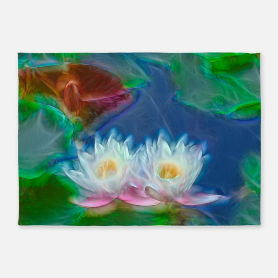 Water Lilies 5'x7'Area Rug