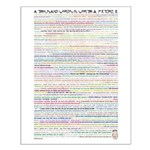 1000 Words is Worth III Small Poster