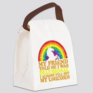 UNicorndrk copy Canvas Lunch Bag