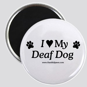 Love My Deaf Dog Magnet