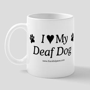 Love My Deaf Dog Mug