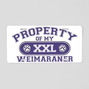 weimaranerproperty Aluminum License Plate