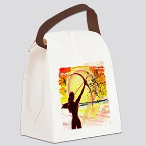 Katniss Radiant as The Sun Canvas Lunch Bag