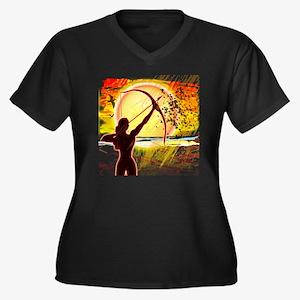 Katniss Radi Women's Plus Size Dark V-Neck T-Shirt