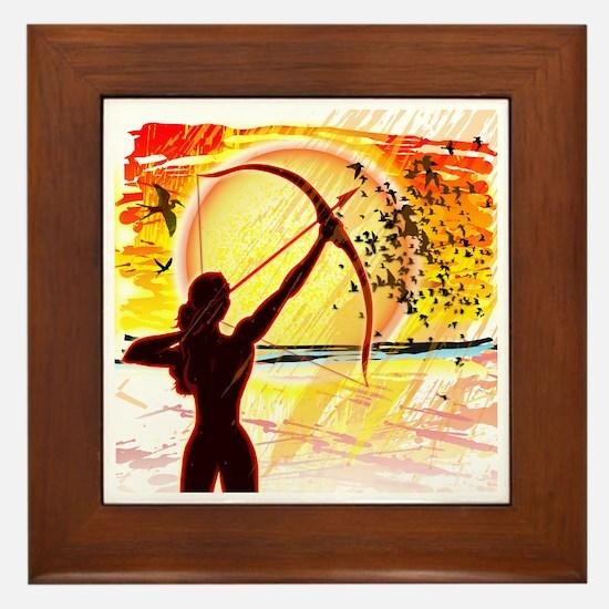 Katniss Radiant as The Sun Framed Tile