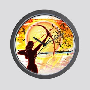 Katniss Radiant as The Sun Wall Clock