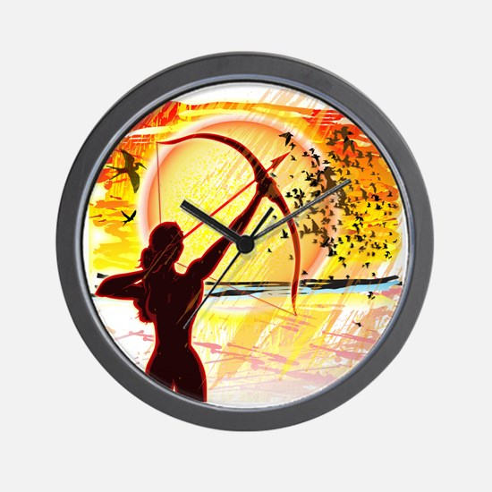 Katniss Radiant as The Sun Wall Clock