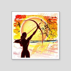 "Katniss Radiant as The Sun Square Sticker 3"" x 3"""