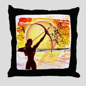 Katniss Radiant as The Sun Throw Pillow